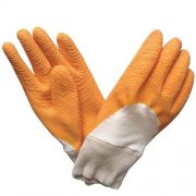 3/4 crinkle latex coated glove with