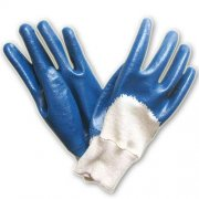Blue Nitrile Coated Gloves With Cot