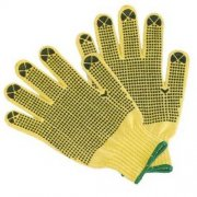 PVC Dots Coating Gloves, Yellow Cot