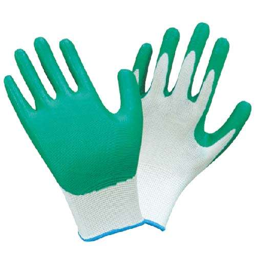 Nitrile Palm Dipped Nylon Knit Work Gloves
