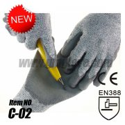 Dyneema Cut Resistant Work Gloves Level 5,PU Palm Coated