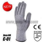 Dyneema Cut Resistant Gloves,PU Coated,Level 3