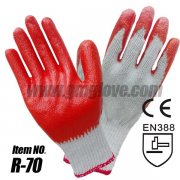 Cheap Cotton Knitted Gloves Red Lat