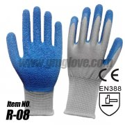 13G polyester latex coated gloves S