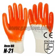 Cheap Orange Nitrile Gloves-Thin Co