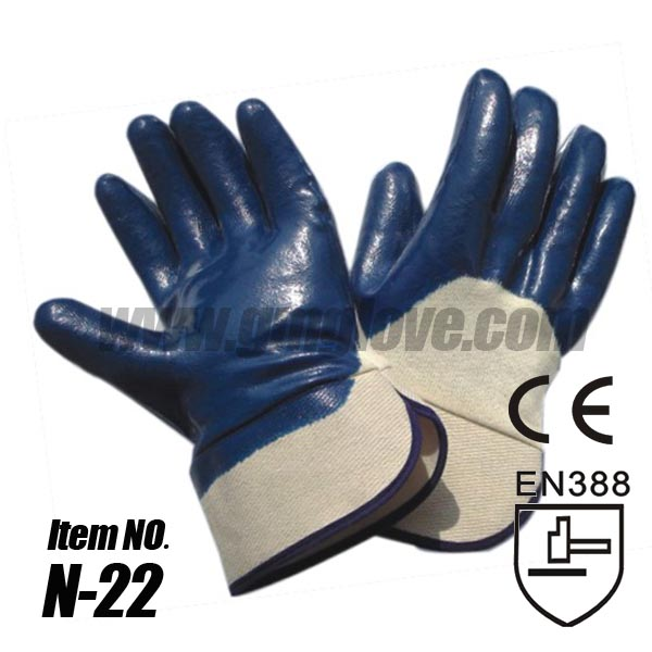 Cotton Nitrile Coated Safety Gloves