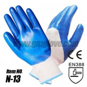 13-Gauge Nylon Nitrile Safety Glove