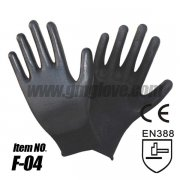 Black PU Palm Coated Gloves, Anti-e