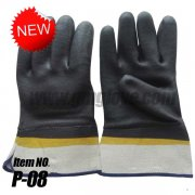 <b>Grip Heavy Duty PVC Coated Glove with Safety Cuff, Sandy finished, Chemical Resistant</b>