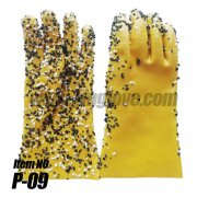 <b>Non-Slip particle Finish Monkey Grip Glove, PVC dipped, long cuff</b>