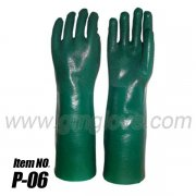 Long PVC Dipped Chemical Protective Gloves, Palm Non-slip